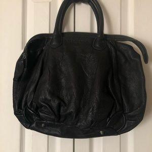 LIEBESKIND Black Leather Hobo Satchel
